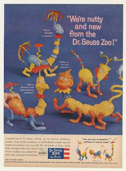 Revell Dr Seuss Zoo Plastic Toys (1959)