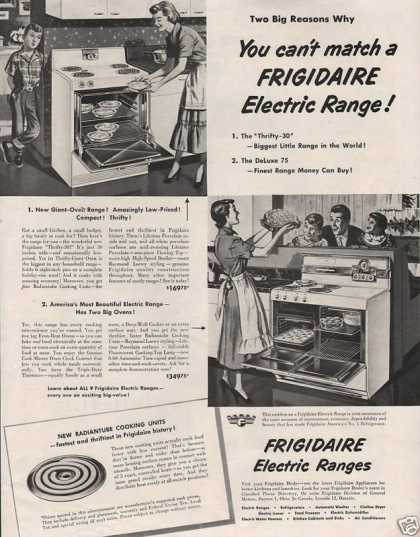 Frigidaire Electric Ranges (1950)