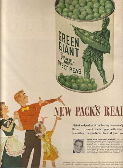 Green Giant's Great Big Tender Sweet Peas (1948)