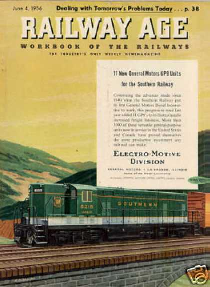 Gm/emd Locomotive Ad Southern Ry. (cno&tp) Gp-9 (1956)