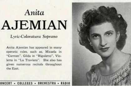 Anita Ajemian Photo Lyric-coloratur (1947)