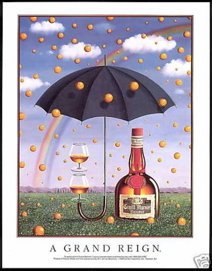 Grand Marnier Liqueur Umbrella Rainbow (1990)