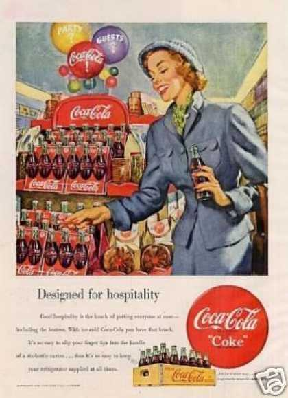 "Coca-cola Ad ""Designed for Hospitality... (1949)"