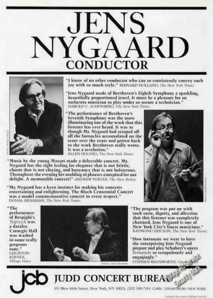 Jens Nygaard Photos Conductor Booking (1986)