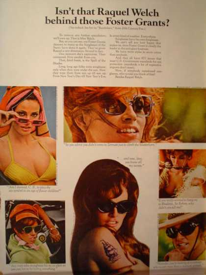Foster Grant sunglasses Raquel Welch Bandolero movie (1968)
