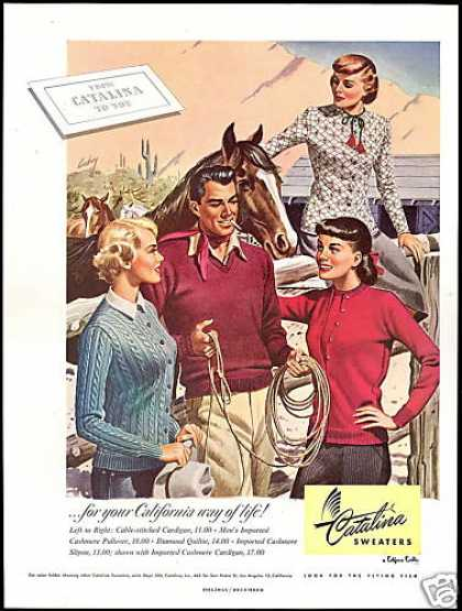 Southwest Horse Pretty Women Catalina Sweaters (1948)