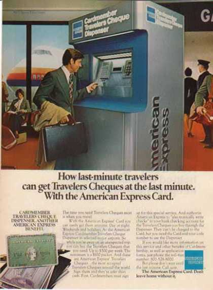 American Express – Travelers Cheques Dispenser (1967)