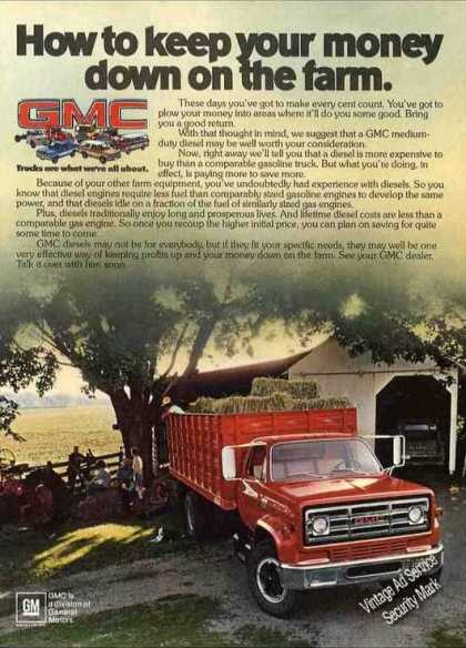 "Gmc Turcks ""Keep Your Money Down On the Farm"" (1980)"