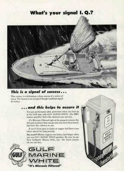"Gulf Marine White Gasoline ""Your Signal I.q."" (1956)"
