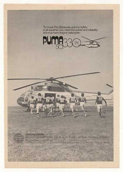Aerospatiale Puma SA330 Helicopter Photo (1974)