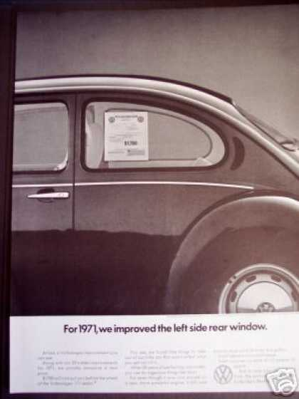 Volkswagen Beetle 111 Sedan Price Sticker Photo (1971)