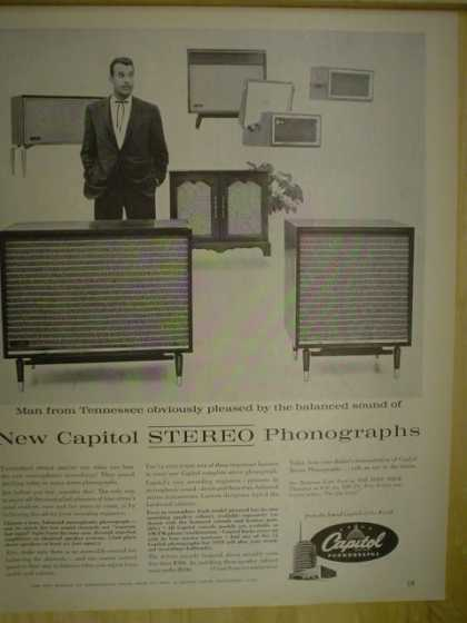 Capitol Phonographs. Man from Tennessee pleased. Tennesse Ernie Ford (1958)