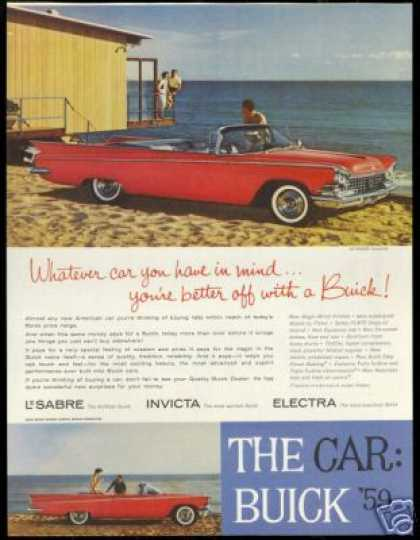 Buick Red Lesabre Convertible Photo Vintage (1959)