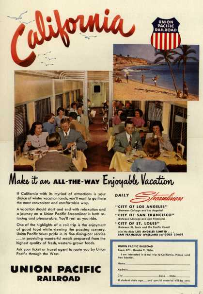 Union Pacific Railroad's California – California Make it an All-The-Way Enjoyable Vacation (1951)
