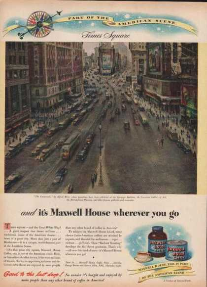 Maxwell House Coffee Time Square (1946)
