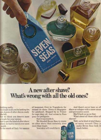"Seven Sea's ""A new after shave? What's wrong with all the old ones?"" (1965)"