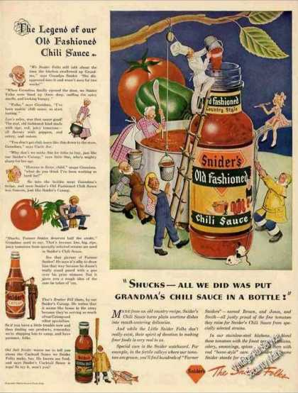 Legend of Old Fashioned Chili Sauce Snider's (1943)