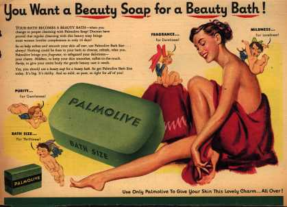 Palmolive Company's Palmolive Soap – You Want a Beauty Soap for a Beauty Bath (1951)