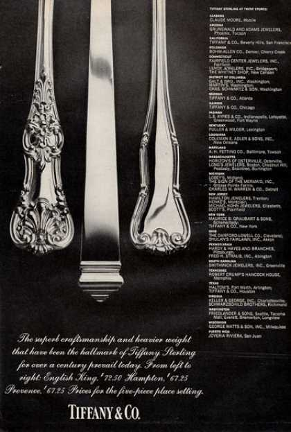 Tiffany Co Sterling Silver Dinnerware (1971)