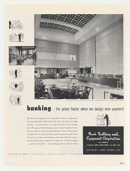 1st National Bank Kalamazoo MI B B Equip Photo (1949)