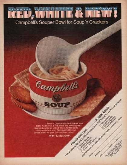 Red White Blue Campbels Soup (1969)