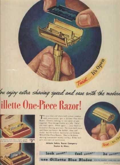 Gillette's One-Piece Razor (1947)