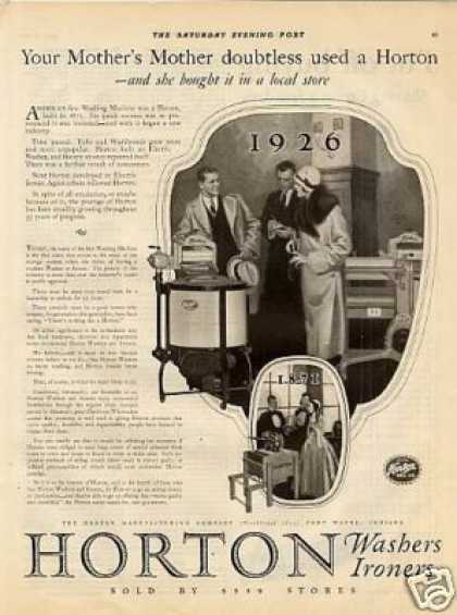 Horton Washing Machine 1926