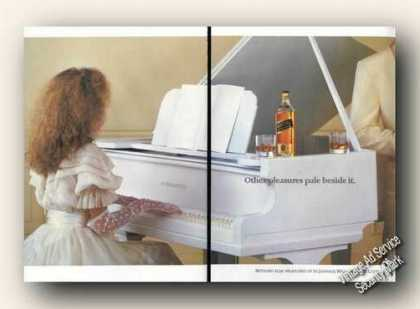 Johnnie Walker Black Label Girl at Piano Uk (1983)