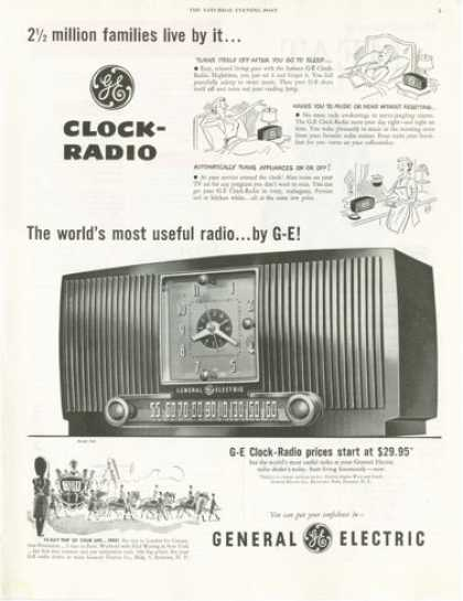 General Electric Clock Radio (1953)