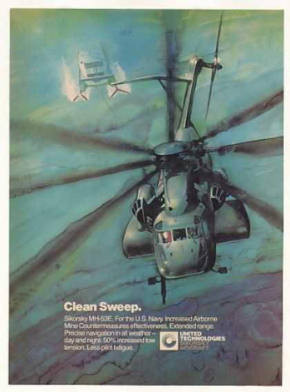 US Navy Sikorsky MH-53E Helicopter art (1982)