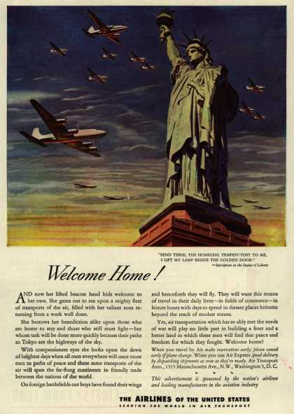 The Airlines of the United State's Air Travel – Welcome Home (1945)