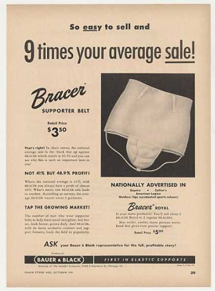Bauer & Black Bracer Supporter Belt (1949)