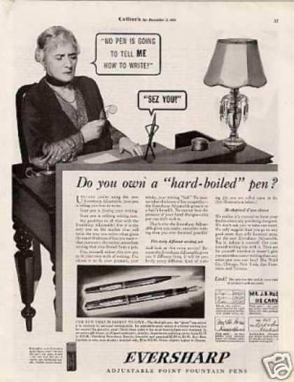 "Eversharp Fountain Pens Ad ""Do You Own... (1934)"