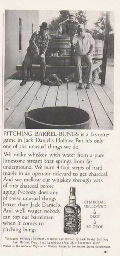 Jack Daniel's – Pitching Barrel-Bungs – Sold (1976)
