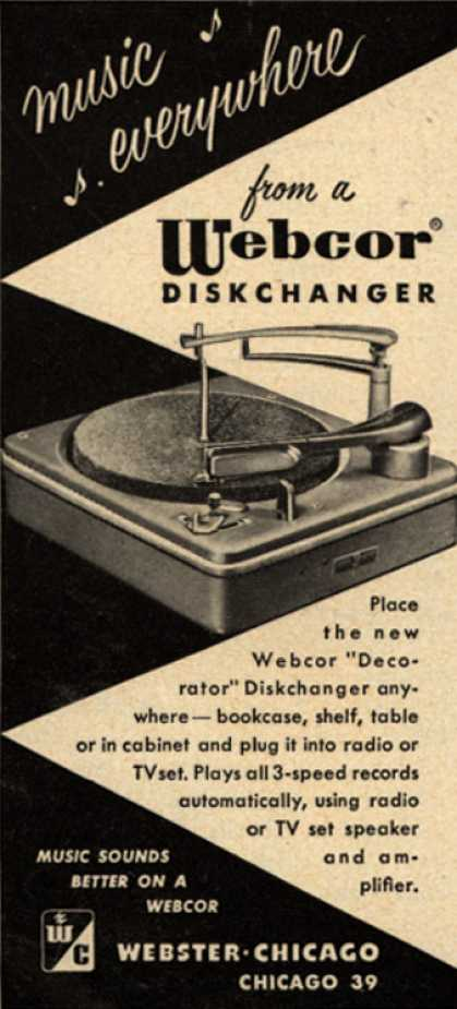 Webster-Chicago Corporation's Diskchanger – Music everywhere from a Webcor Diskchanger (1952)