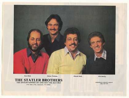 The Statler Brothers Photo Booking (1983)
