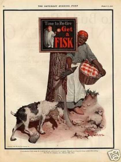 Fisk Tire Color Ad Leslie Thrasher Art (1926)