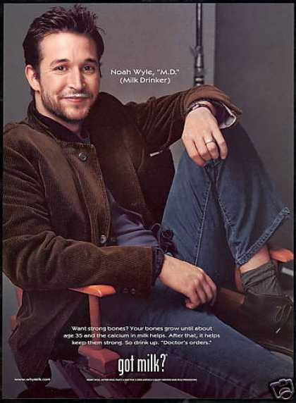 Noah Wyle MD ER Milk Drinker Board (2001)