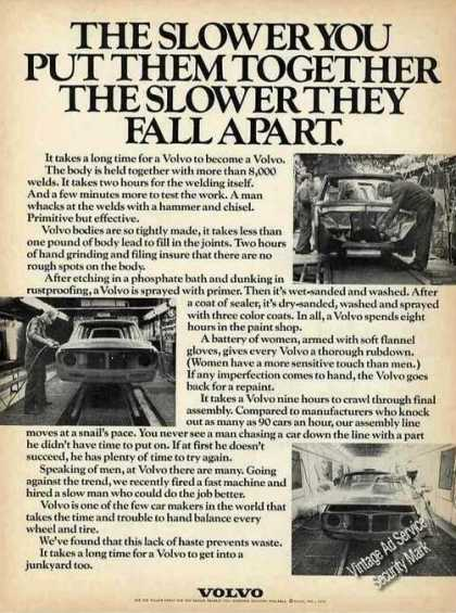 Volvo the Slower You Put Them Together Car (1972)