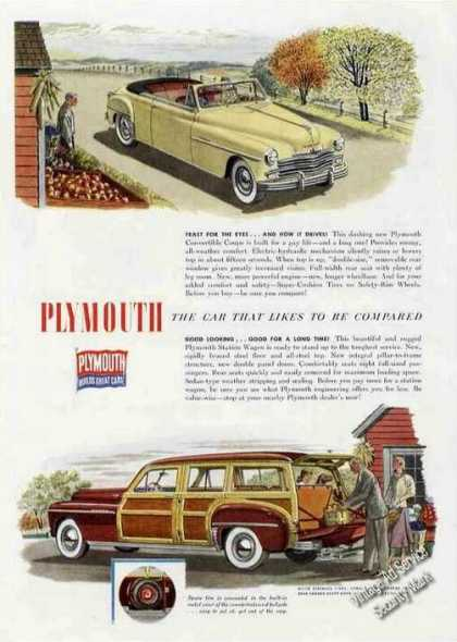 Plymouth Convertible & Station Wagon Nice (1949)