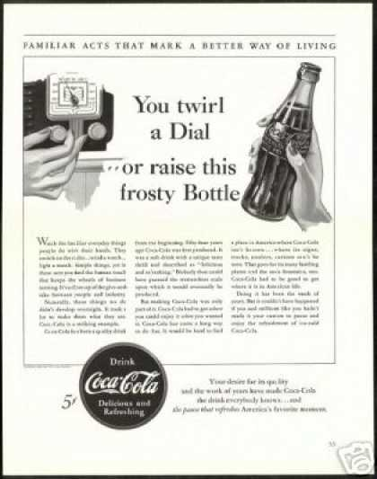 B&W Coca Cola Better Living Vintage Coke (1940)