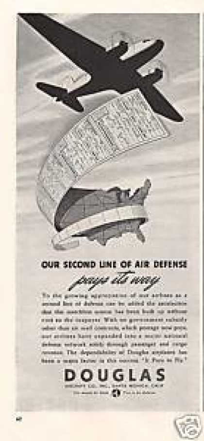 Douglas Second Line of Air Defense Airplane (1940)