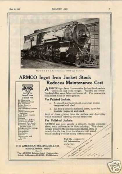 "Armco Ad ""Big Four"" Alco 2-8-0 #6730 (1925)"