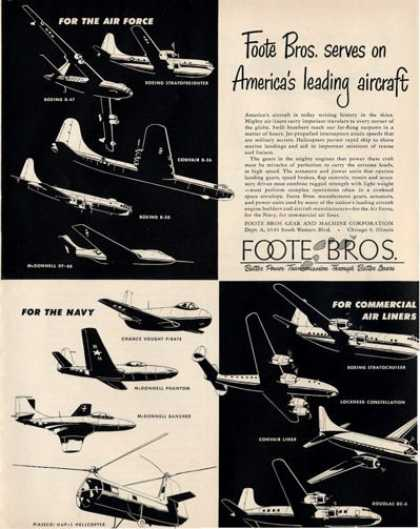 Foote Bros Aircraft 13 Models Planes Helicopter (1950)