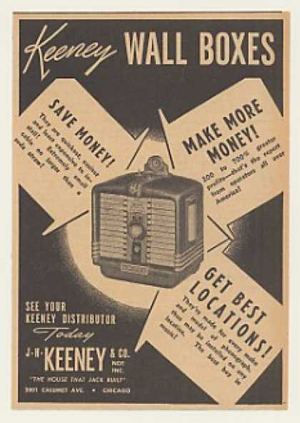 Keeney Wall Box Jukebox (1940)