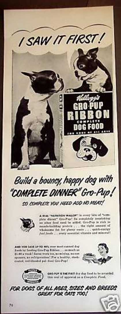 Terrier Puppy Gro-pup Ribbon Dog Food (1950)