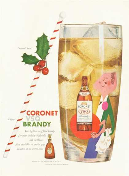 Coronet Brandy Decanter Bottle (1955)