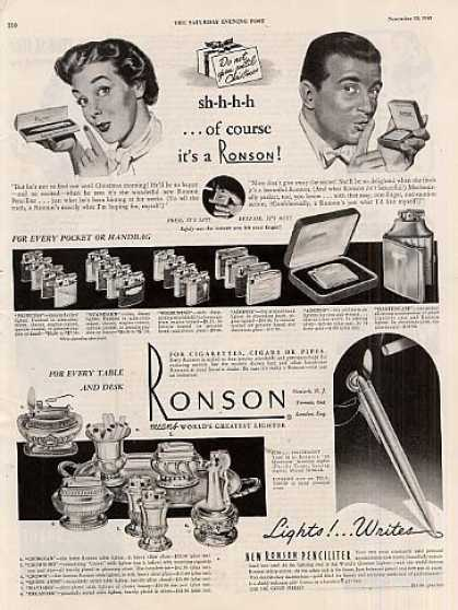 Ronson Lighters (1948)