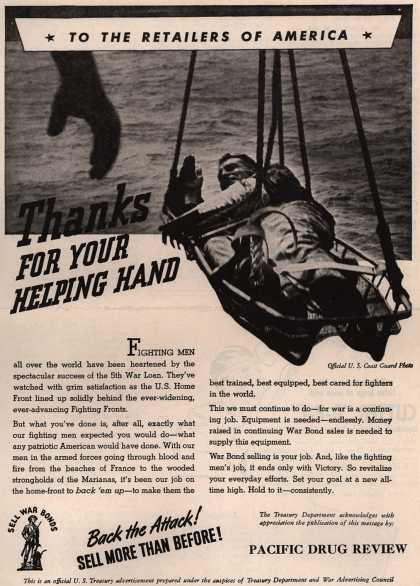 U. S. Treasury Dept.'s War Bonds – Thanks For Your Helping Hand (1944)