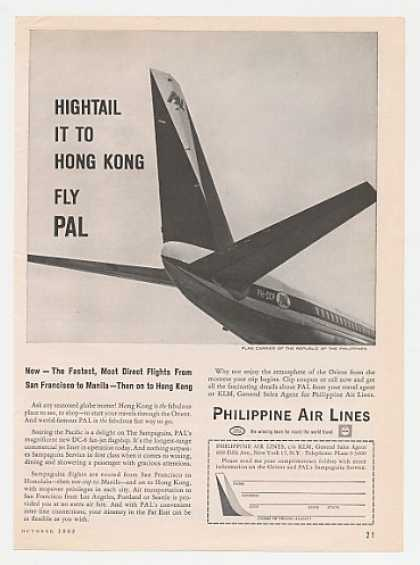 PAL Philippine Air Lines DC-8 Fan Jet Tail (1962)